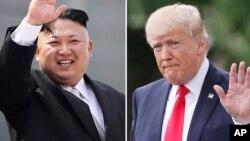 ေျမာက္ကိုရီးယားေခါင္းေဆာင္ Kim Jong Un နဲ႔ အေမရိကန္သမၼတ Donald Trump ။