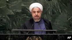 Tổng thống Iran Hassan Rouhani phát biểu tại trước kỳ họp lần thứ 69 của Đại hội đồng Liên hiệp quốc 25/9/14