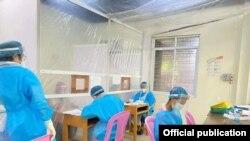 ရန္ကုန္ၿမိဳ႕ အလံုၿမိဳ႕နယ္ရွိ Fever Clinic ျမင္ကြင္း။ (ဓာတ္ပံု - Ahlone Fever Clinic - ေအာက္တိုဘာ ၂၀၊ ၂၀၂၀)