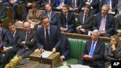 英國首相卡梅倫在國會表決前呼籲議員支持議案