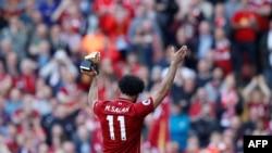 Mohammed Salah, joueur de Liverpool, lors du match contre Brighton, le 13 mai 2018.