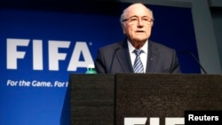 FIFA President Sepp Blatter addresses a news conference at the FIFA headquarters in Zurich, Switzerland, June 2, 2015.