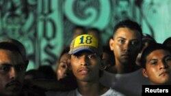 Pandilleros presos en el centro penal de Quezaltepeque. Las dos principales padillas acordaron dejar de reclutar niños y jovénes.