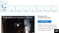 A screenshot of Google's Science Fair webpage