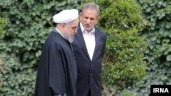 حسن روحانی رئیس جمهوری ایران و اسحاق جهانگیری