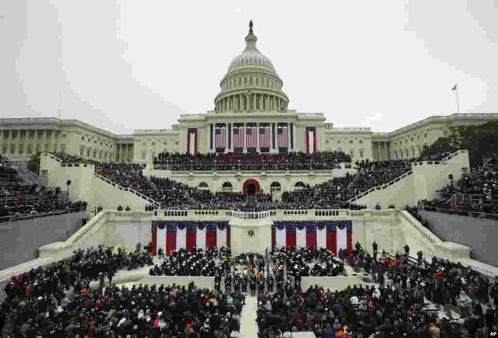 21일 바락 오바마 대통령 2기 취임식이 열린 국회의사당.