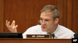 Anggota DPR AS Jim Jordan berbicara di Capitol Hill, Washington. (Foto: Dok)