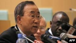 Tổng Thư ký LHQ Ban Ki-Moon tại lễ khai mạc hội nghị thượng đỉnh châu Phi ở Addis Ababa, Ethiopia, 29/1/2012