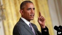 Presiden AS Barack Obama memberikan pernyataan di Gedung Putih (foto: dok).