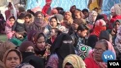 نئی دہلی میں مسلم خواتین کا مظاہرہ۔