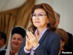 Dariga Nazarbayeva, daughter of Kazakhstan's President Nursultan Nazarbayev and the country's Deputy Prime Minister, attends celebrations to mark Unity Day in Almaty, May 1, 2016.