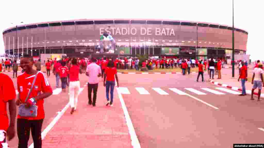 The largest stadium in Equatorial Guinea in Bata, the country's main commercial center.