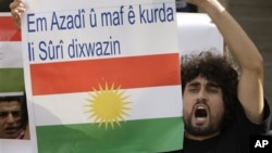 Người Kurd biểu tình chống Tổng thống Syria Bashar al-Assad