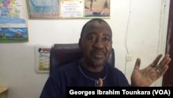 Touré Adama, président de la Coordination des gares routières, à Abidjan, en Côte d'Ivoire, le 17 juin 2017. (VOA/Georges Ibrahim Tounkara)