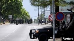 Des mutins patrouillent dans les rues d'Abidjan, en Côte d'Ivoire, le 22 mai 2017.