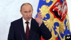 俄羅斯總統普京自贏得連任以來的第一次對全國發表講話