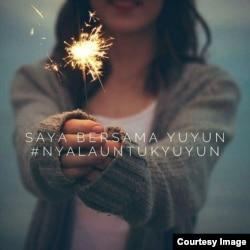 Solidaritas untuk YY, korban kekerasan seksual. (Foto: media sosial)