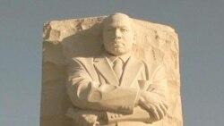 Visitors Admire MLK Memorial