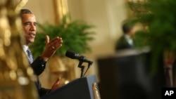 Выступление президента Обамы в Белом доме 3 августа