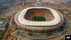 Soccer City Stadium in Johannesburg, South Africa. The biggest stadium in Africa
