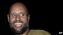 Saif al-Islam, the son of Libyan leader Moammar Gadhafi, August 23, 2011. (file photo)