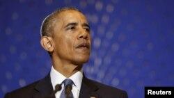 Президент США Барак Обама выступил в синагоге «Адас Исраэль» в Вашингтоне. 22 мая 2015 г.