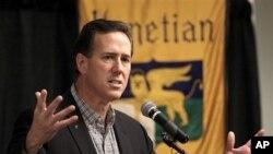 ທ່ານ Rick Santorum ອະດີດສະມາຊິກສະພາສູງລັດ Pensylvania ຜູ້ສະມັກເຂົ້າແຂ່ງຂັນເປັນປະທານາ ທິບໍດີສະຫະລັດ ຂອງພັກຣີພັບບລີກັນ ໄດ້ຮັບຫາງສຽງນິຍົມຢູ່ລັດ Louisiana.