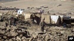 Američki vojnik pored mesta napada u provinciji Vardak