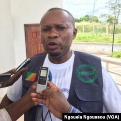 Ané Philippe Bibi, représentant personnel du pasteur Ntumi, Kinkala, Congo, 20 mars 2018. (VOA/Ngouela Ngoussou)