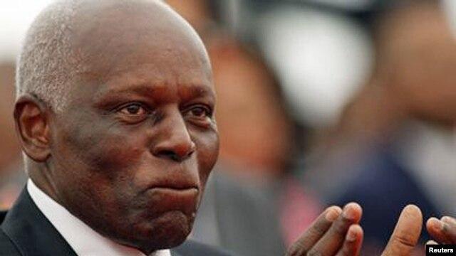 FILE - Angolan President José Eduardo dos Santos.