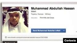 테러 기도로 기소된 존 부커가 인터넷 사회 커리어 연결망에 올린 자신의 사진과 이슬람 이름