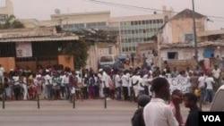 Uma manifestação em Margoso Luanda