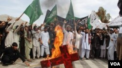 Anti Pakistan military protest in city of Jalalabad