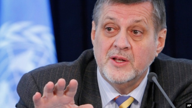 FILE - Jan Kubis, the U.N. Secretary-General's special representative to Afghanistan (2012 photo)
