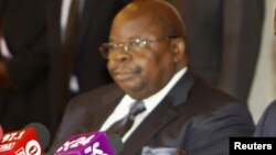 FILE - Former Tanzanian President Benjamin Mkapa attends a news conference in Nairobi, Kenya, Oct. 11, 2012. His role as facilitator at recent peace talks on Burundi has earned him praise.