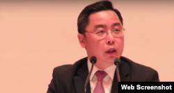 李克新:中国驻美公使李克新(联合报网络视频截图)