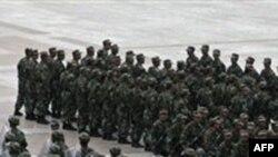 Binh sĩ Trung Quốc chiếm quảng trường chính ở Hotan, Tân Cương sau khi xảy ra một vụ bạo động
