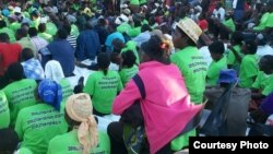 MDC supporters captured at its Binga election manifesto launch Saturday.