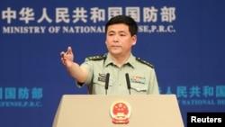 Phát ngôn viên Bộ Quốc phòng Trung Quốc Nhậm Quốc Cường (ảnh tư liệu)