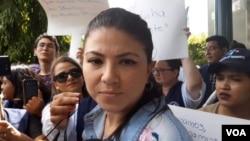 La abogada e integrante de la Comisión Permanente de Derechos Humanos (CPDH), María Oviedo Delgado, aún esta a la espera que el Juez de Ejecución determine las condiciones de la suspensión de la sentencia. Foto: Daliana Ocaña.