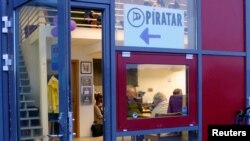 The entrance of the Icelandic Pirate Party headquarters in Reykjavik, Iceland, September 19, 2016. Picture taken September 19, 2016.