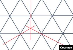 Lát gạch đối xứng xoay theo 1/3 vòng tròn. (Hình: Vũ Quí Hạo Nhiên)