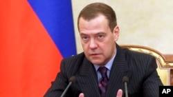 俄羅斯總理梅德韋傑夫被列入美國財政部剛公佈的名單