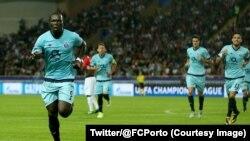 Vincent Aboubakar de Porto a marqué un doublé contre Monaco dans un macth de la Ligue des champions, 26 septembre 2017. (Twitter/@FCPorto)