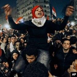 Les Egyptiens laissent éclater leur joie