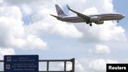 지난해 9월 미국 아메리칸 항공 소속 여객기가 쿠바 아바나의 호세마르티 국제공항에 착륙하고 있다. (자료사진)
