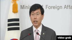 韩国外交部发言人赵俊赫(资料照片)