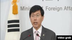 南韓外交部發言人趙俊赫。(視頻截圖)
