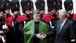 26일 이탈리아 로마를 방문한 하미드 카르자이 아프가니스탄 대통령