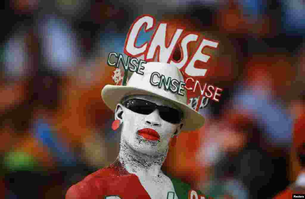 Navijač Obale Slonovače na Kupu Afričkih nacija (AFCON) u Južnoj Africi.